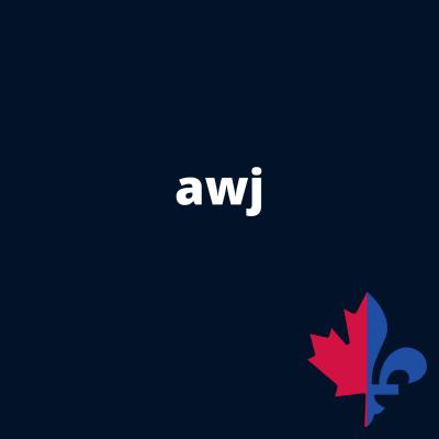 AWJ uni  navy - Fait au Québec