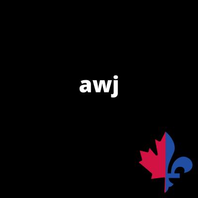 AWJ uni noir - Fait au Québec
