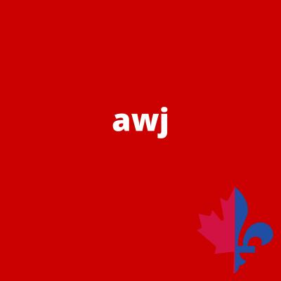 AWJ uni rouge - Fait au Québec