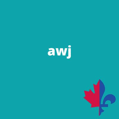 AWJ uni turquoise - Fait au Québec