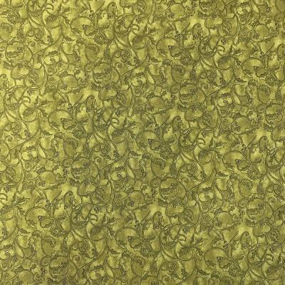 Coton à motif - Feuillage kaki