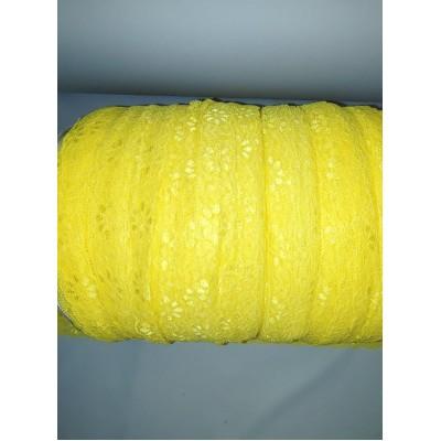 Dentelle extensible jaune (10 mètres)