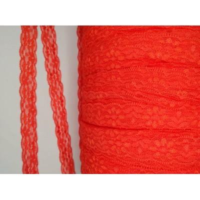 Dentelle extensible Rouge orange (10 mètres)