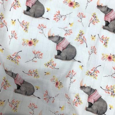 100% mousseline de coton prélavée Rhino
