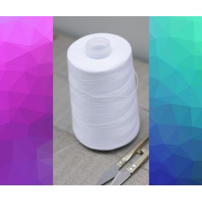 Bobine de fil blanc