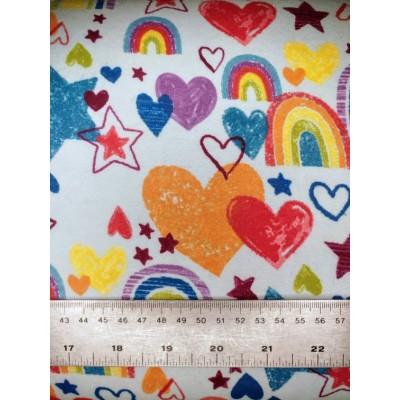 flanelle coeur 1 mètre