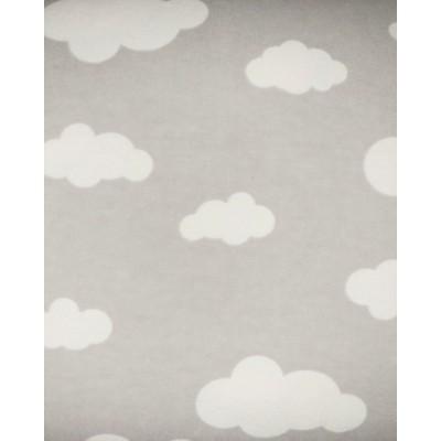 flanelle nuage gris 1 mètre
