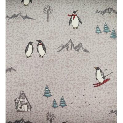 flanelle pingouin ski 1 mètre