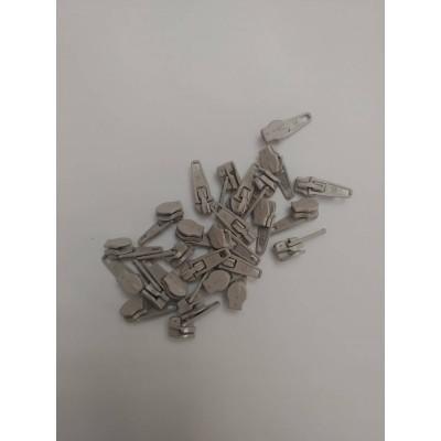 Curseur pour fermeture à glissière en métal - curseur pour zipper - Gris pâle