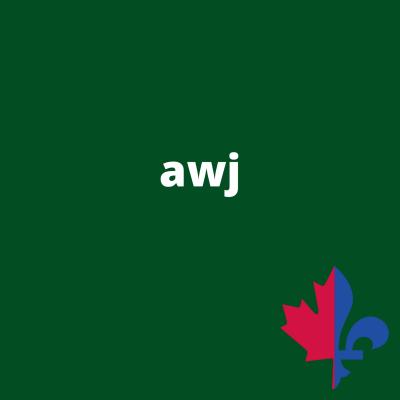 AWJ uni vert forêt - Fait au Québec