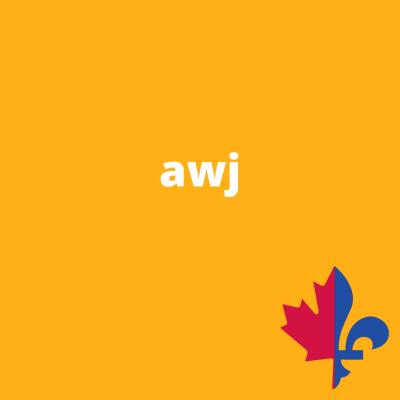 AWJ uni doré- Fait au Québec