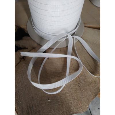 Élastique blanc 10mm (3/8) 10 mètres tricoté