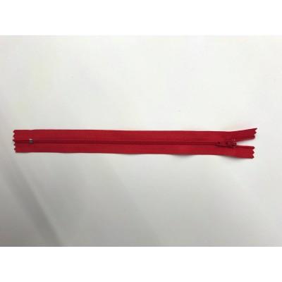 Fermeture éclaire en nylon rouge paquet de 10
