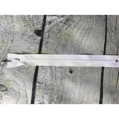 Fermeture éclaire en nylon blanc paquet de 10
